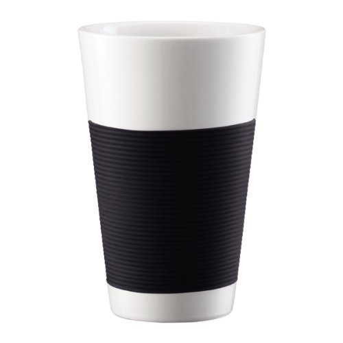 Bodum 10110-01 Canteen 2 Stück Tasse, doppelwandig, 0.35 l, Porzellan