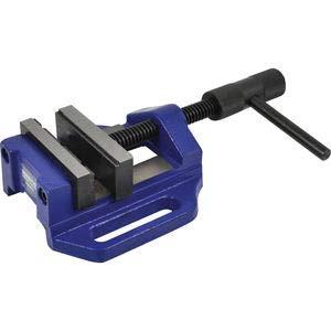 SENATOR Maschinenschraubstock Bohrmaschinenschraubstock 100 mm x 25 mm x 250 mm blau