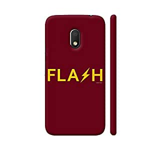 Colorpur The Flash On Red Printed Back Case Cover for Moto G4 Play