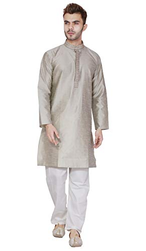 Langarmhemd herrenhemd Herren Kurta Pyjamas Set handgemachtes traditionelles -