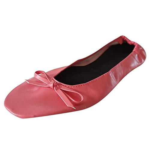 Innerose scarpe pieghevoli borsetta,scarpe ballerine da sandali da sposa donna roll-up piegato ballerine flats basse party scarpe tascabile scarpe da ballo