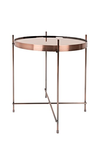 Zuiver Cupid mesa baja cristal, color Cobre, talla M, 43 x 43 x 45 cm