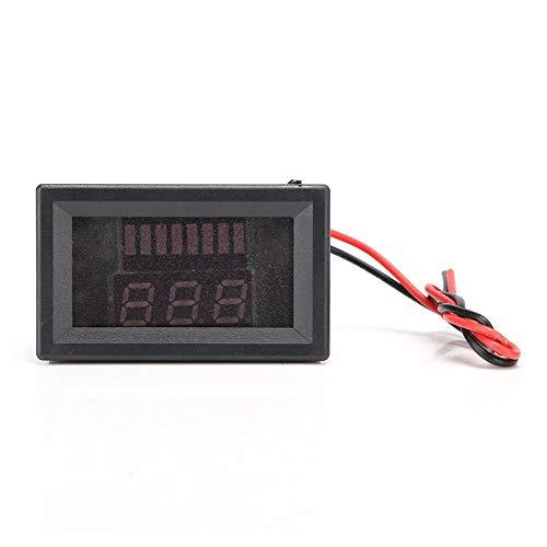 Wendry DC-Batteriemessgerät, digitales elektromobiles Spannungsmessgerät Anzeige Lithium-Batterie-Messgerät Voltmeter 12V-72V mit Funktion des Verpolungsschutzes(rot)
