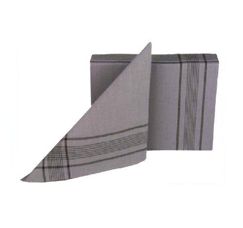 Tobeni 12 Bundeswehr Taschentücher Herrentaschentuecher Stoff Taschentuch 100% Baumwolle Militär-Grau 50 cm x 50 cm -