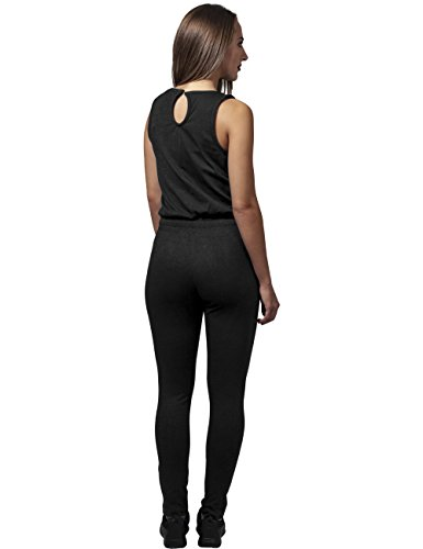 Urban Classics Damen Jumpsuit Ladies Melange, Schwarz Black 825, Large - 5