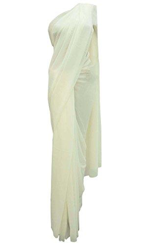 pakistani traditionellen Partei zu tragen bollywood Hochzeit neue indische ethnischen Kleid (Weiße Sari Indische)