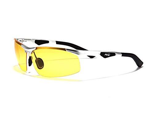 Telam Polarisierte Nachtsicht Brillen, Nachtsicht KFZ Treiber, HD Blendfreie Night Vision Brillen, Luftfahrt-Aluminium Magnesium Materialien