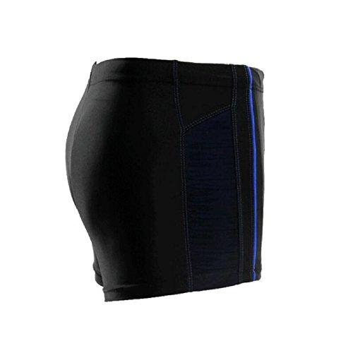 LJ&L Herren-Hosen Schwimm-Shorts, Strand-Shorts, Nylon-Material, weiche und bequeme atmungsaktive Stretch-Shorts schwimmen Stämme A