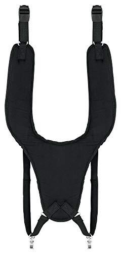 XDrum Djembe Gurt Eco (Schultergurt zum Umhängen von Djemben, mit 2 Metallkarabinern, längenverstellbar von 60 bis 76 cm) schwarz