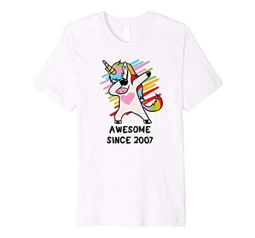 Awesome seit 2007 T-Shirt DAB Einhorn 11. Geburtstag Geschen