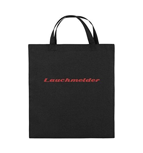 Comedy Bags - Lauchmelder - Jutebeutel - kurze Henkel - 38x42cm - Farbe: Schwarz / Pink Schwarz / Rot