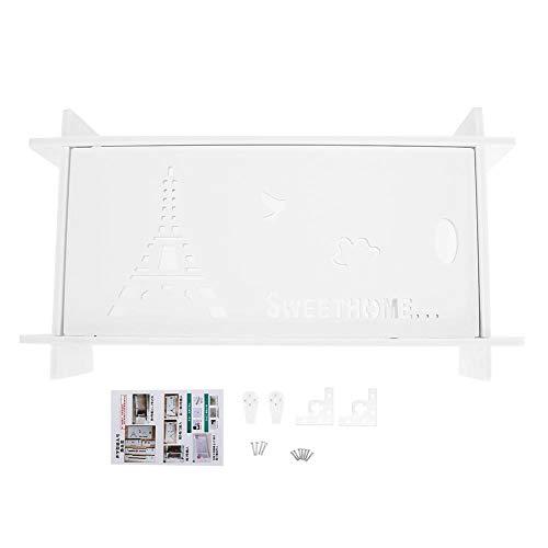 Famus WiFi Router Aufbewahrungsbox Regal Wandbehang Halterung Rack Kabel Wohnzimmer Veranstalter Dekor -