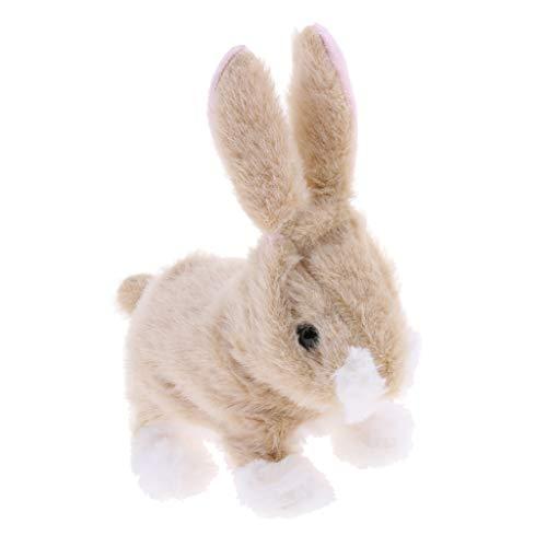 Homyl Elektronischer Hase Spielzeug mit Springen Gehen und Wackeln Funktionen, Geschenk für Kinder
