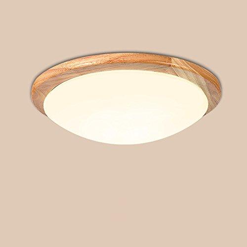 GQLB Massivholz Deckenleuchte Holz tatami Lampe 15 W, einfache und moderne Gang Balkon Schlafzimmer Massivholz lampe Deckenleuchte 44 * 10 CM
