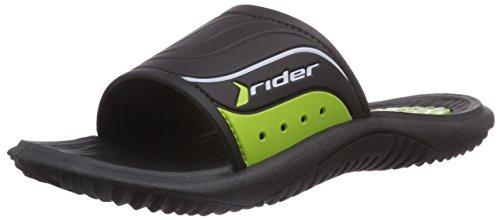 Rider Montana Iv, Chaussures de Claquettes homme Noir - Schwarz (Black/Green 02235)