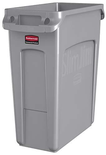 Rubbermaid Slim Jim - Cubo basura residuos asas, capacidad