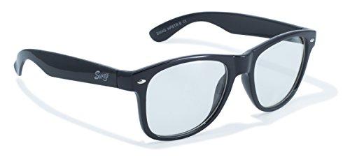 Swag Sonnenbrille Global Vision Eyewear HPSTR C Series Sonnenbrille mit schwarzem Rahmen und klaren Gläsern
