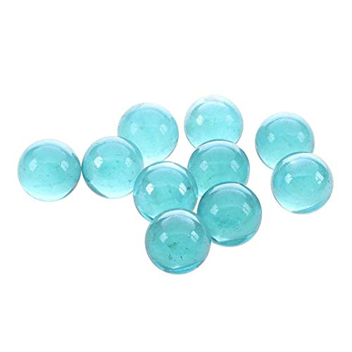 DDG EDMMS 10 Piezas de 16 mm de luz Hermosa Bola de Cristal Transparente de Cristal Transparente de mármol Juego de un Partido de mármol Azul
