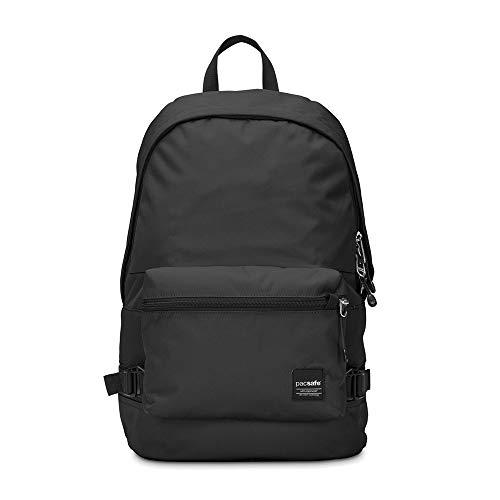 Pacsafe Slingsafe LX400, Anti-Diebstahl Rucksack mit Abnehmbarer Umhängetasche, Daypack mit Sicherheitstechnologie, 20 Liter, Schwarz/Blac...