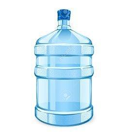 UVA Universal Plastic Water Dispenser Bottle (Blue) - 20 LTR