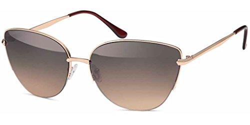 UVprotect Damen Retro Cat eye Katzenauge Style Sonnenbrille braun W65-7