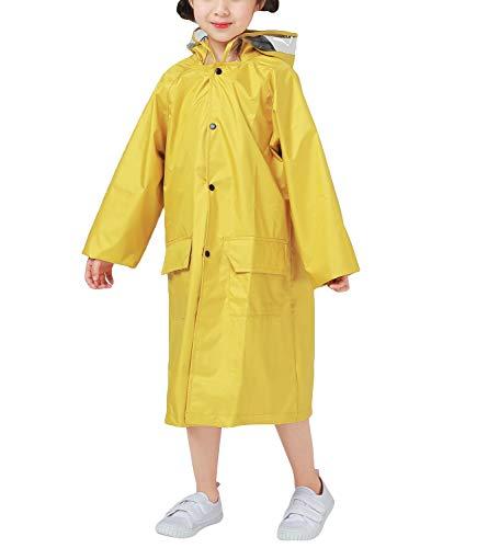 CAMLAKEE Kids Long Raincoat Patterned Reusable Waterproof Poncho