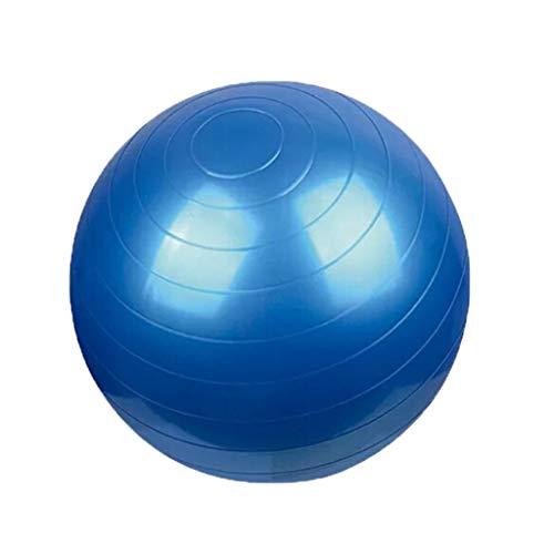 YxlAB Yoga-Ball, Explosionssichere Gewichtverlustübung Schwangeren Üben 55CM/65CM/75CM-Eignungsball Um Luftpumpe Zu Senden (Farbe : Blau, größe : 55cm)