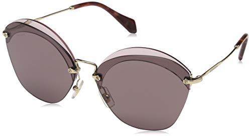 Miu Miu Damen 0MU53SS VX36X1 63 Sonnenbrille, Rot (Transparent Red/Purple Brown),