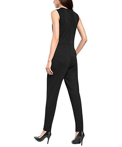 ESPRIT Collection Damen Jumpsuits 085eo1l001 - Schmeichelnder Ausschnitt Schwarz (Black 001)