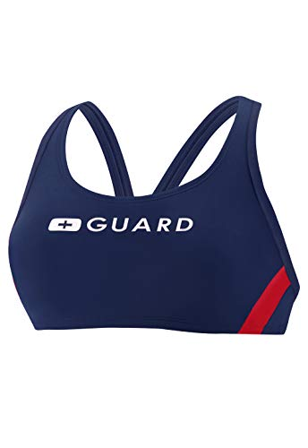 Speedo Guard (Speedo Damen Guard Sport Bra Endurance Lite Badeanzug, US Navy, Large)