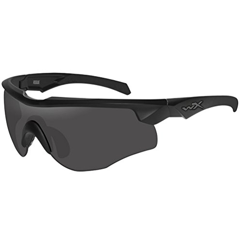 Wiley X WX Rogue Comm Brille Smoke Grey Klare Light Rust Linse Matte Schwarz Rahmen