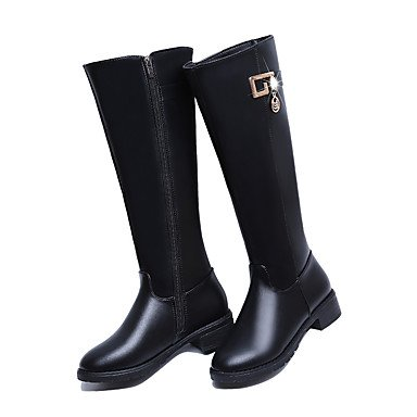 Wuyulunbi@ Scarpe Donna Autunno Inverno Comfort Stivali Tacco Piatto Ginocchio Stivali Alti Per Casual Nero,Black,Us8.5 / Eu39 / Uk6.5 / Cn40 US6 / EU36 / UK4 / CN36