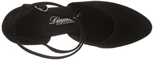 Diamant Damen Tanzschuhe 058-068-001, Chaussures de Danse de Salon Femme Noir - Noir