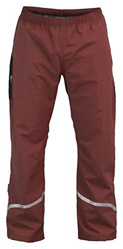 Rubberneck NXSVN Regenhose Wasserdicht & Atmungsaktiv, Reflektierend mit 3M Reflektor-Streifen Rot Größe M