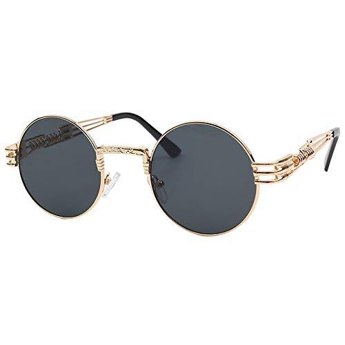 Alvndarling Sonnenbrille für Männer und Frauen mit rundem Gestell im Hip-Hop-Stil (Nicht polarisiert)