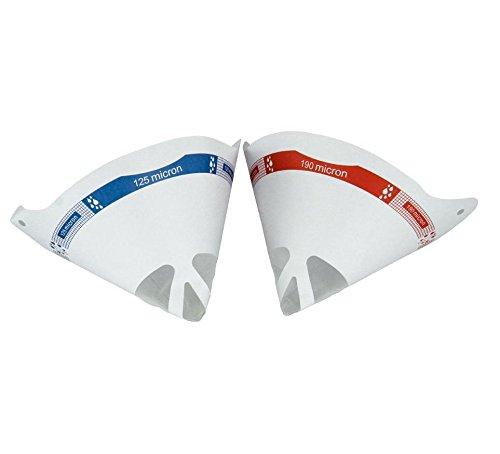 Lacksieb I 50 Stück mit 190 µm I MST Farbsieb I Lackierzubehör für Wassertransferdruck I Einweg Lackfilter WTD WTP