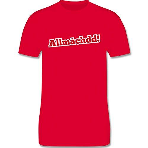 Franken Männer - Allmächdd! - L190 Schlichtes Männer Shirt Rot