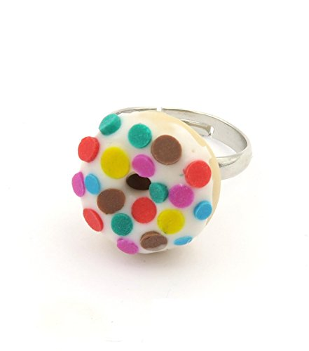 schmuck-stadt Dots Donut Ring Damen Modeschmuck größenverstellbar