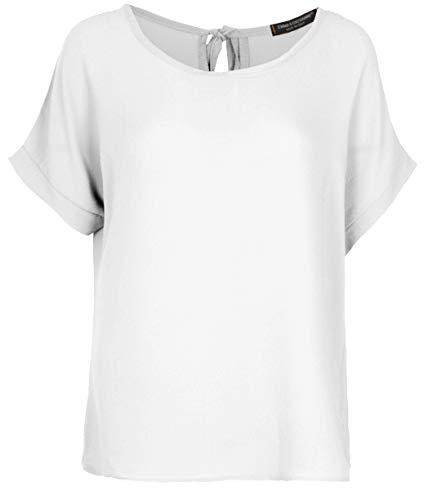 Emma & Giovanni - T-Shirt/Oberteile Oversize mit Kurzarm Segelstoffe - Damen (Weiß, DE 44 (Herstellergröße XL)) -
