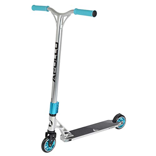 Apollo Stunt Scooter - Genesis Pro X Silver - HighQuality Profi Stunt-Scooter, ABEC 9 Kugellagern, 100mm PU Wheels mit Alu Core, Funscooter, Tretroller, Roller