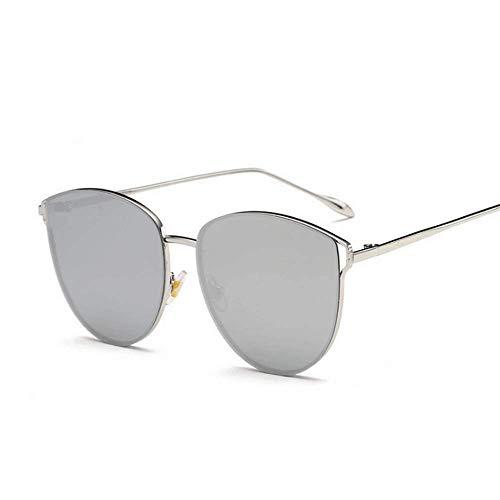 LBY Europäische und Amerikanische Mode Damen Sonnenbrillen Trend Cat Eye Frame Sonnenbrille Sonnenbrille für Damen (Farbe : Silver/Silver)