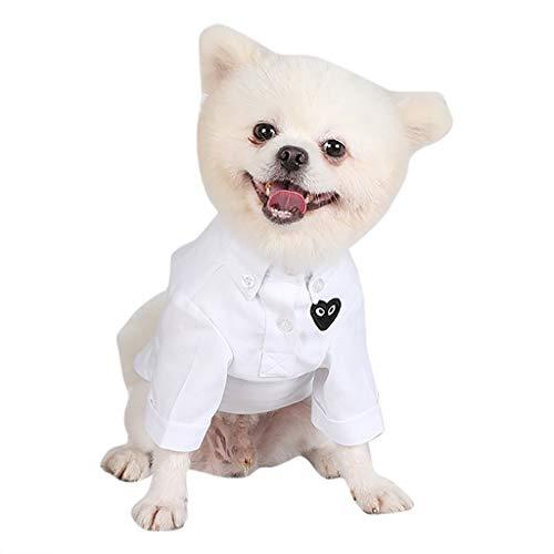 Olive Kostüm Einfach Eine - LOSVIP Mode Neue Haustier Katze Hund Kleidung 2019,Frühling und Herbst Breathable Love Print Einfache Slim Fit Shirt(Weiß,XS)