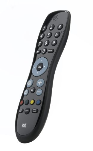 One For All Simple TV Télécommande universelle - Noire - Contrôle votre Téléviseur - Garantie de fonctionner avec toutes les marques TV. URC 6410