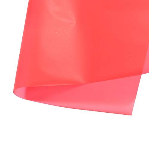 LAAT Geschenkpapier transparent und wasserfest für Verpackung mit Blumen Dekoration für Heimwerker, 20 Blatt 60 * 60 cm rot