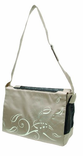 Dogit Style Nylon Messenger Bag, Butterfly Beige by Dogit