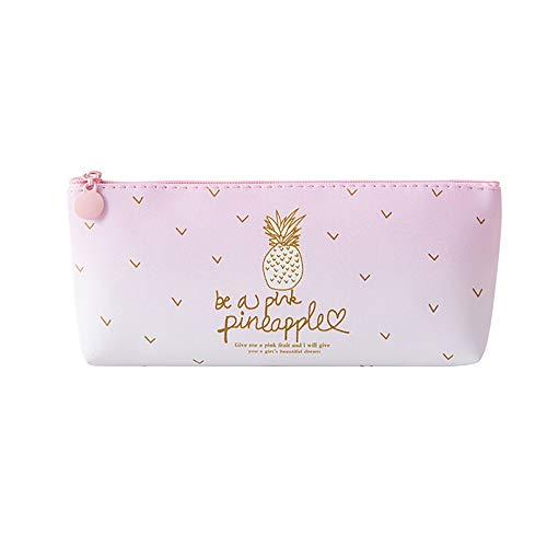 (Mitlfuny Black Friay DE Cyber Monday DE,Rosa Ananas Federmäppchen Kosmetiktasche Make-up Tasche Bleistift Box)