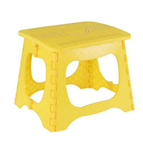 KKCD-Klappstuhl Faltender Plastikschemel-einfacher Stuhl-Erwachsener Ausgangsfuß-Schemel, Der Den Kleinen Bank-im Freien Beweglichen Fischen-Schemel Faltet (Farbe : Gelb)