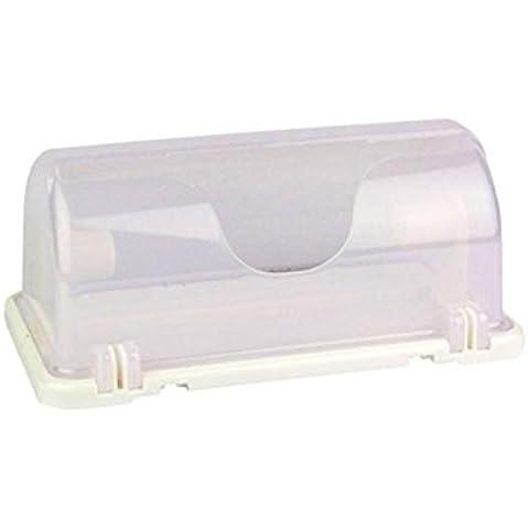 KKCF Tovagliolo di carta da cucina Holder Storage Box Magnet rotolo di carta (290 * 165 * 130 millimetri) carichi familiari ( colore : Bianca )