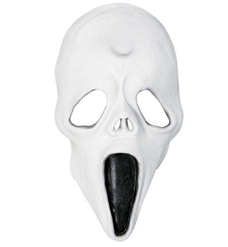 Geist, für Erwachsene, Universalgröße, weiß, Geistermaske, Gespenstermaske, Gruselmaske, Halloweenmaske, Kostümzubehör, verkleidung, Halloweenparty, Gespenst, Geist, Monster (Erschreckend Alt Halloween Kostüme)