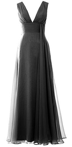 MACloth - Robe - Trapèze - Sans Manche - Femme Noir - Noir